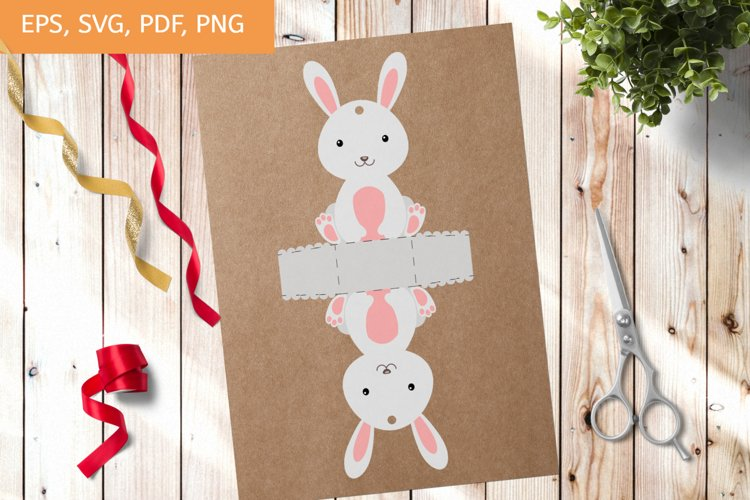 Cute Gift Package Rabbit Template SVG, Gift Box SVG example image 1