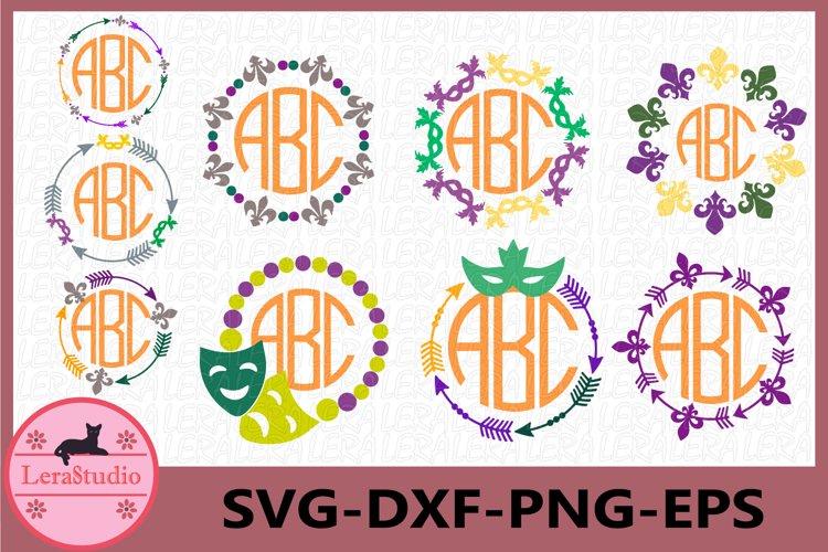 Mardi Gras Monogram Svg, Mardi Gras Clip Art, Silhouette