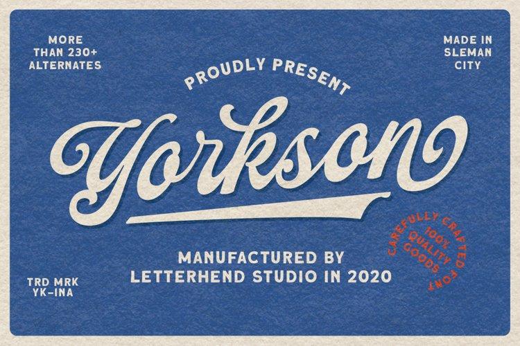 Yorkson - Script Logotype Font example image 1
