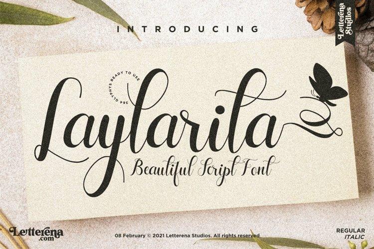 Laylarita - Beautiful Script Font example image 1