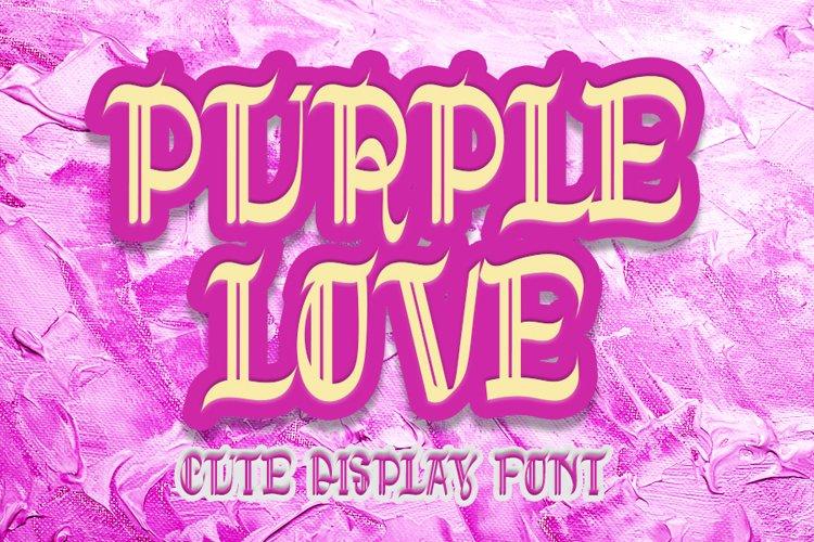 Purple Love - Cute Display Font example image 1