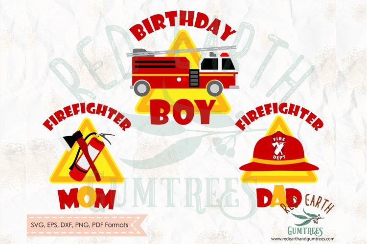 Fireman birthday theme, firefighter in SVG,DXF,PNG,EPS,PDF