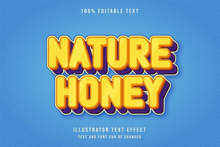 Nature honey - Text Effect example image 1