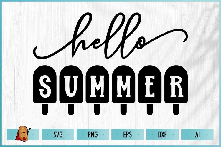 Hello Summer SVG - Summer SVG - Beach SVG - Ice Cream SVG