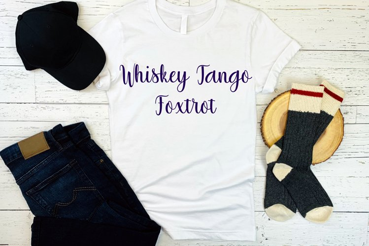 Whiskey Tango Foxtrot Cut File - SVG & PNG example image 1