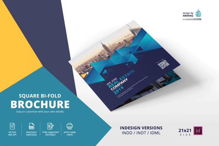Square Brochure Bifold 21x21 Indesign Template