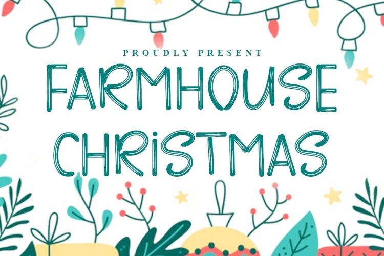 Farmhouse Christmas - Brush Christmas Font example image 1