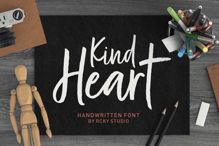 Kind Heart Font Duo example image 1