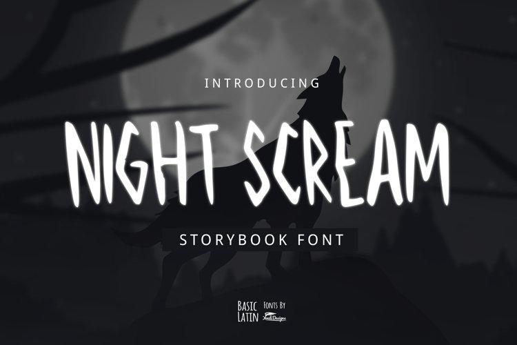 Night Scream Font example image 1