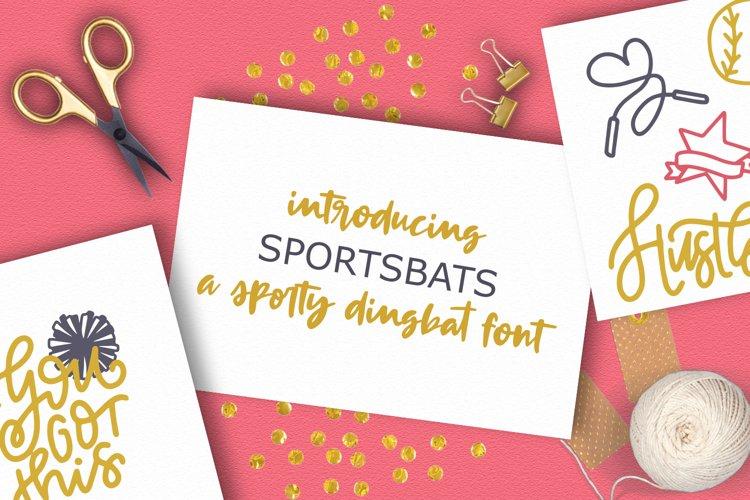 SPORTSBATS - Sporty Dingbats & Catchwords example image 1