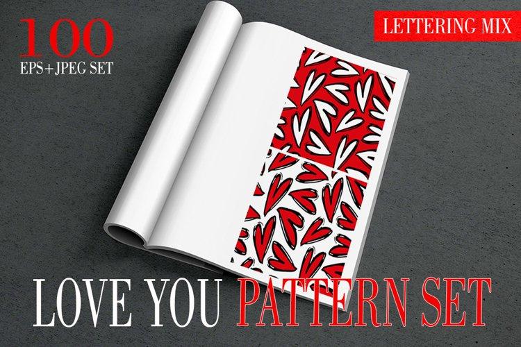 Love You - Hearts - MEGA PATTERN SET