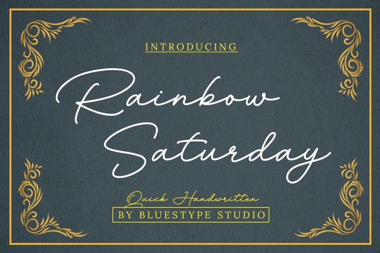 Rainbow Saturday - Signature Font example image 1