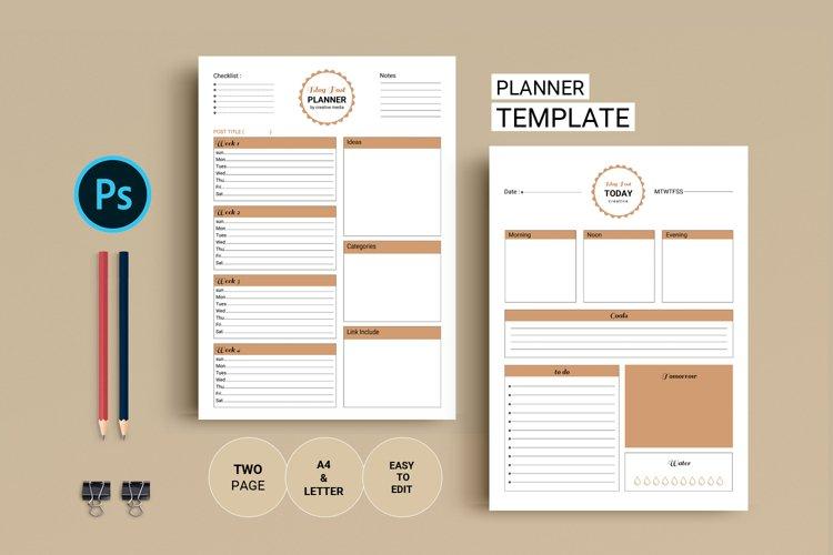 Blog Post Planner Printable. , Jpg & Psd File example image 1