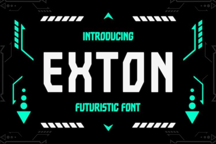Exton - Sharp Futuristic Font