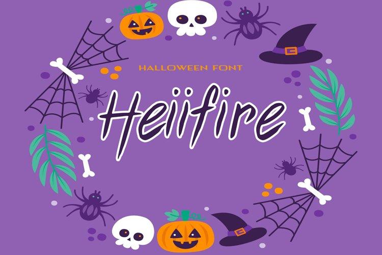 Heiifire Halloween Font example image 1