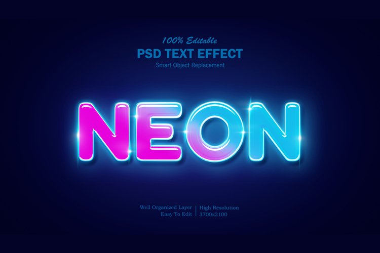Neon Light Text Effect example image 1