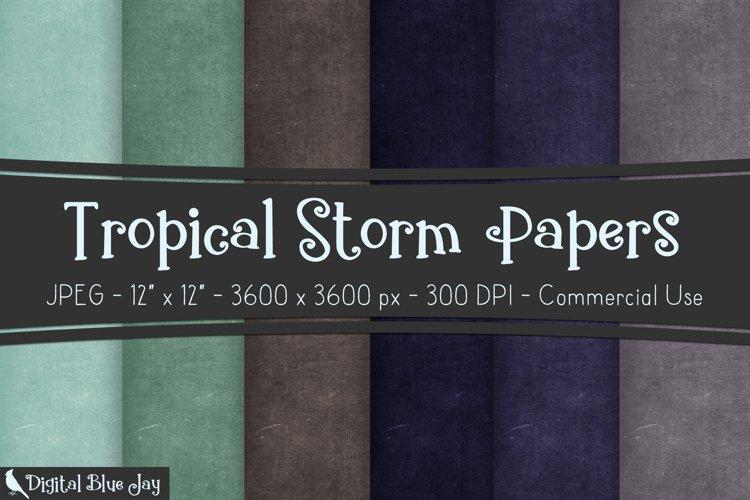 Digital Scrapbook Paper Backgrounds - Tropical Storm