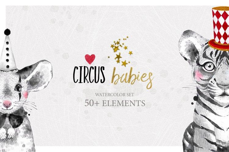 CIRCUS BABIES watercolor set