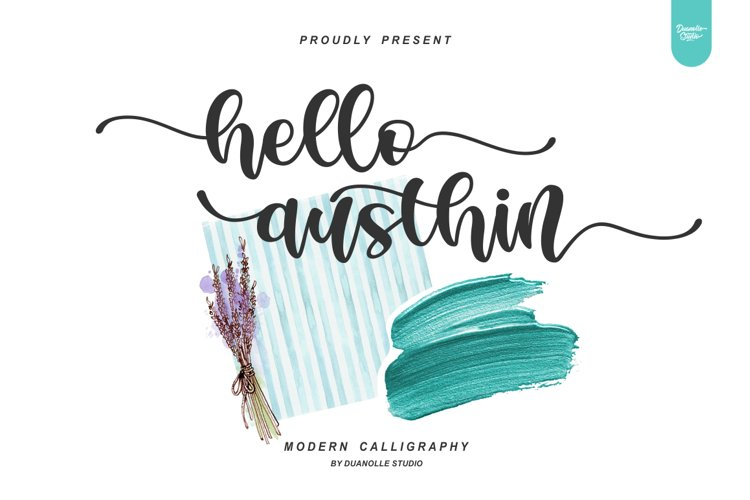 Hello Austhin // romantic font