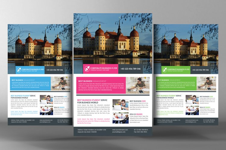 Clean Corporate Flyer Template example image 1