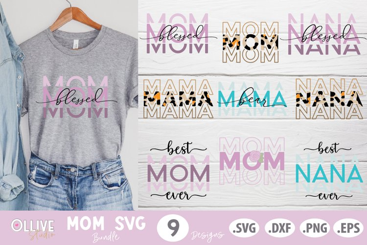 Mother's Day SVG Bundle, Mom -Mama SVG Bundle example image 1