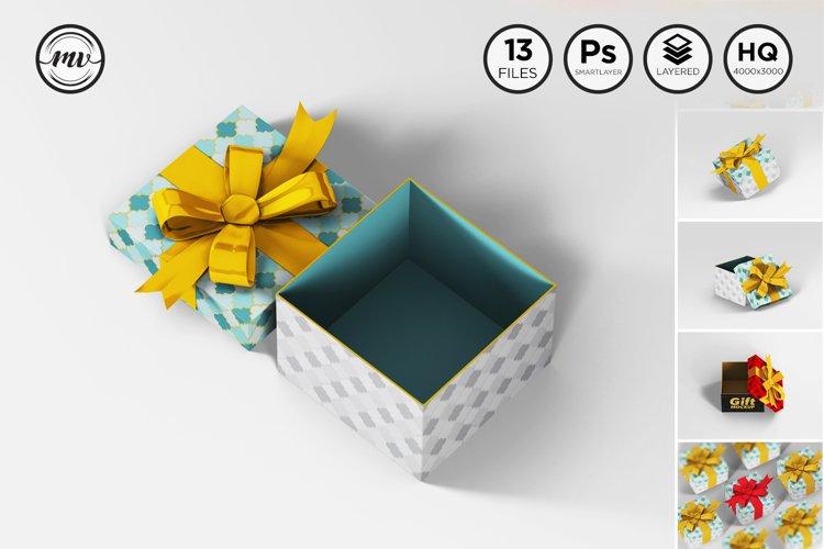 Gift Box Square Mockups example image 1