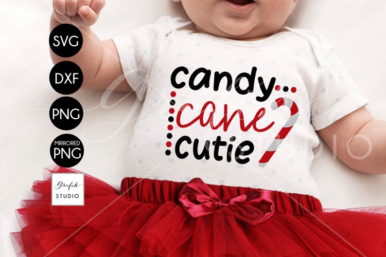 Candy Cane Cutie Christmas holiday SVG File