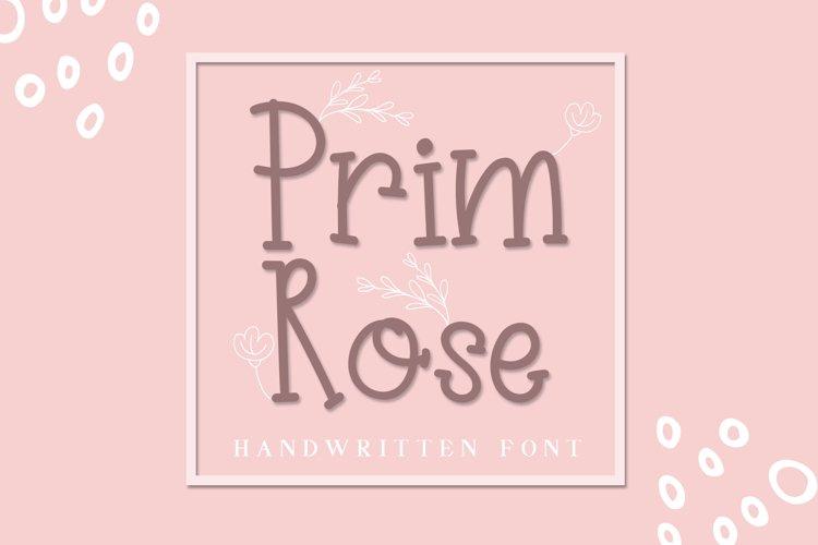 Prim Rose - Lovely Handwritten example image 1