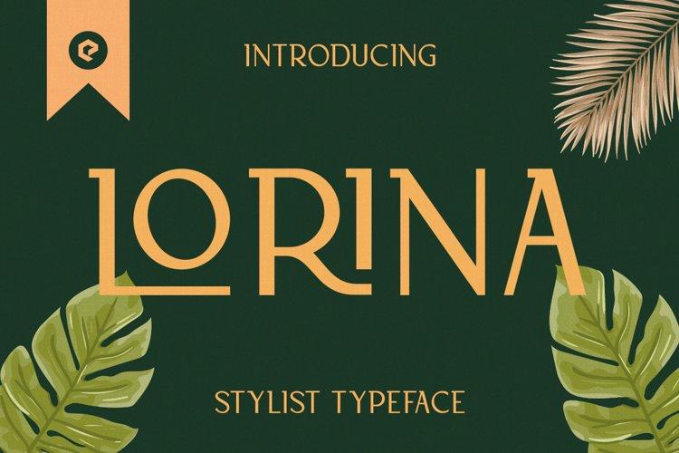 Lorina Stylist Typeface example image 1