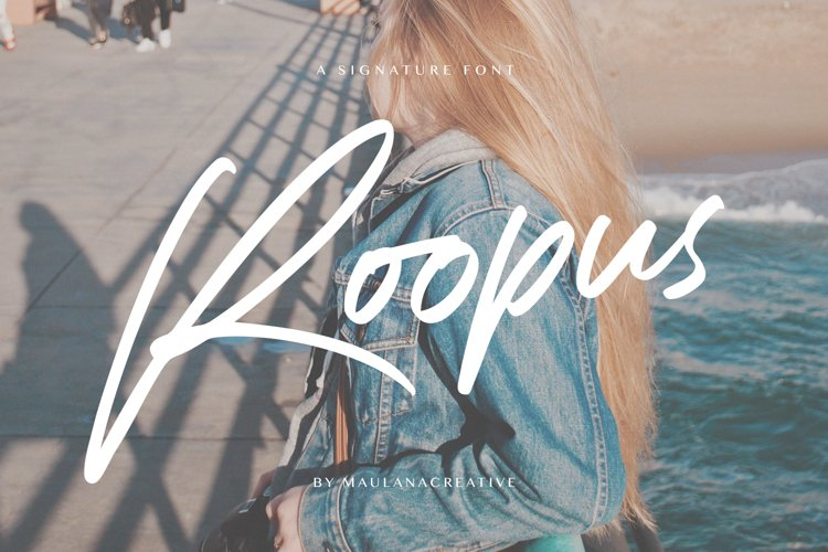 Roopus Signature Font example image 1