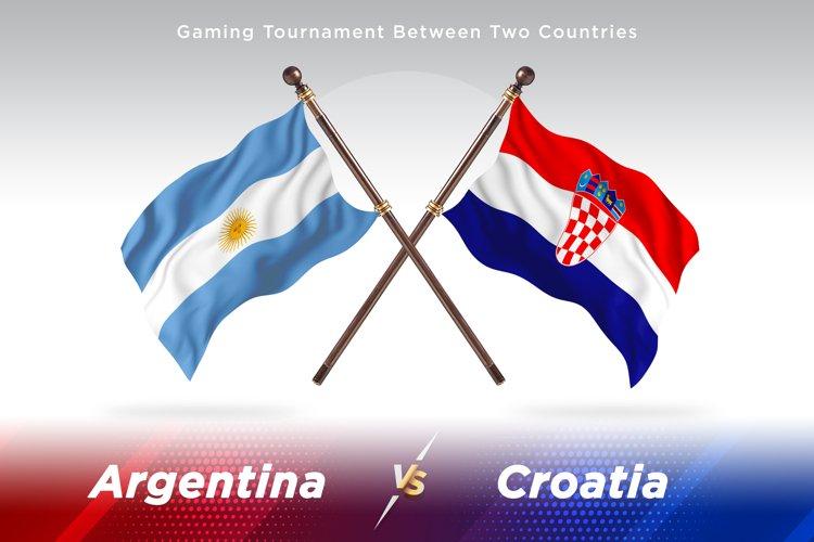 Argentina vs Croatia Two Flags example image 1