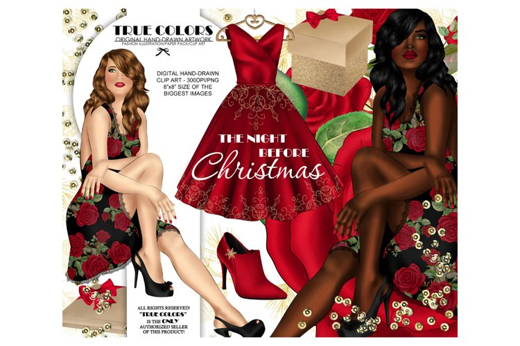 Christmas Clip art Afro American Clipart Christmas Clipart example image 1