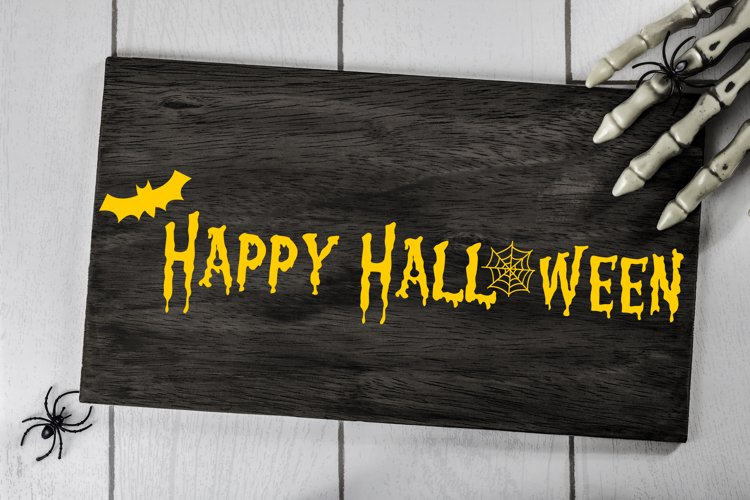 Happy Halloween Cut File - SVG & PNG example image 1