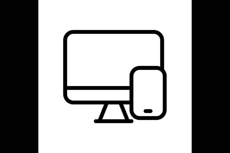 computer disk symbol line icon, Vector Illustration example image 1
