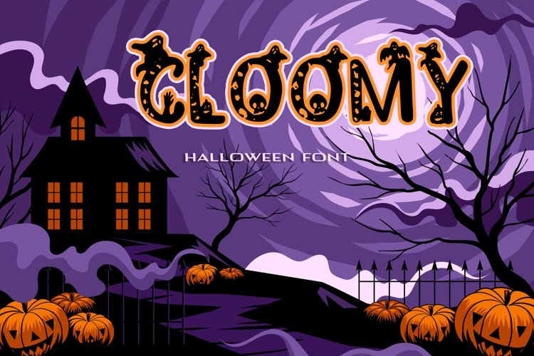Cloomy Halloween Font example image 1