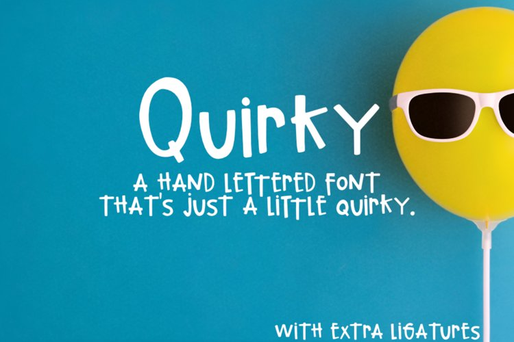 Quirky Hand-lettered Font example image 1