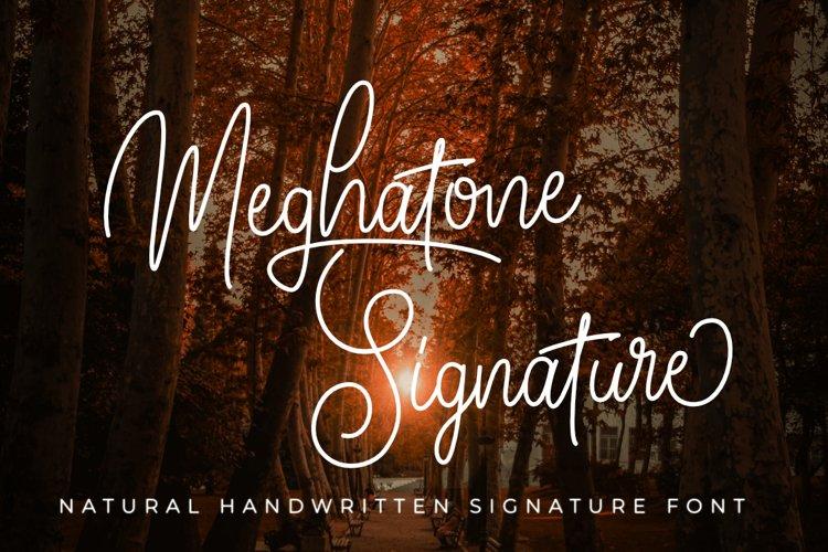 Meghatone Signature | A Natural Handritten Script Font