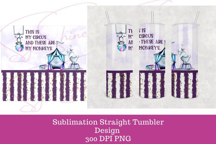 Sublimation 20 oz Skinny Straight Tumbler Wrap Design