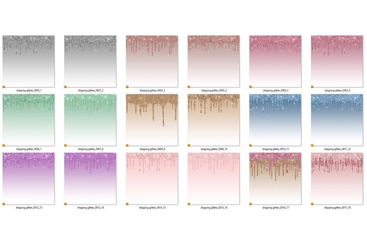 Dripping Glitter Digital Paper - Free Design of The Week Design0