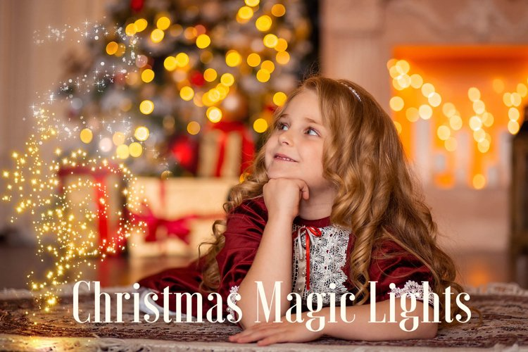 Christmas magic lights overlay example image 1