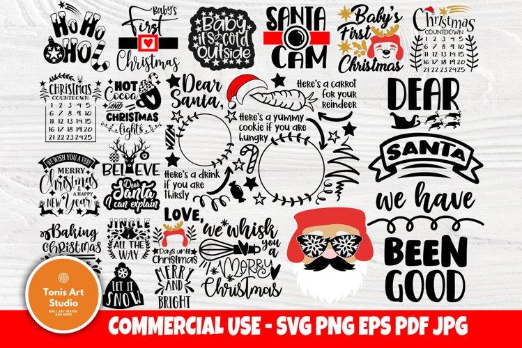 Christmas SVG Bundle, Christmas Shirt Svg, Funny Santa Claus example image 1