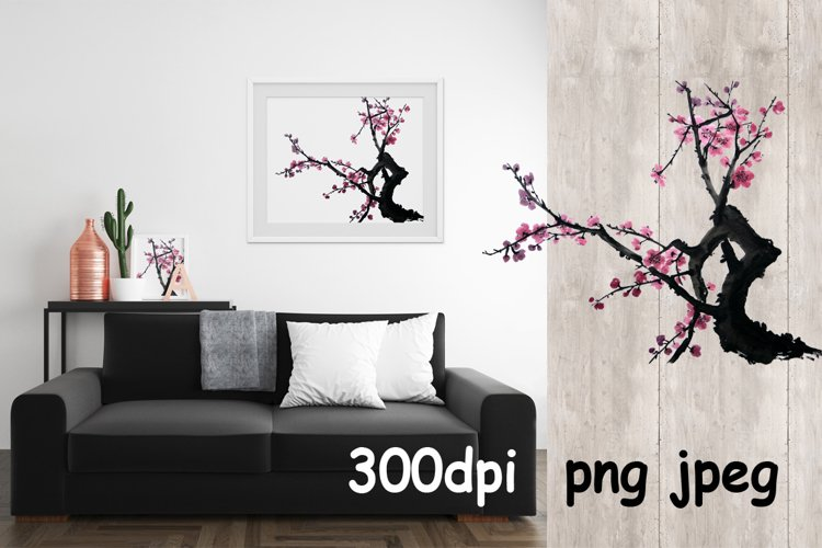 Chinese painting of plum mei example image 1