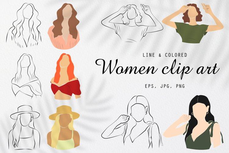 Women Portraits Modern Clipart