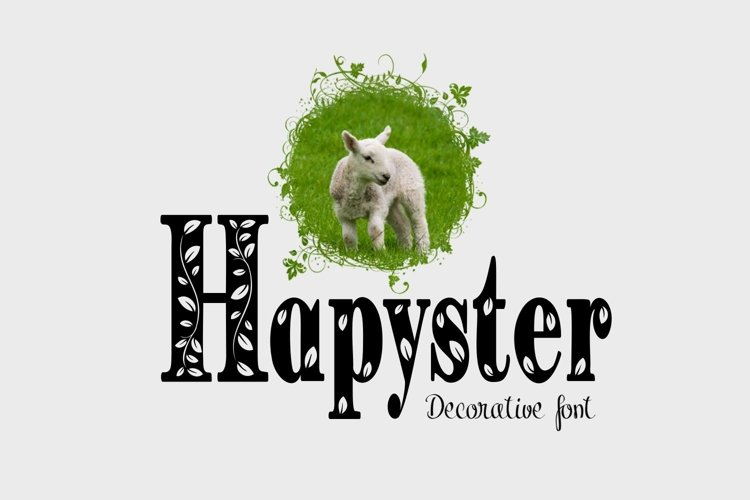 Hapyster font example image 1