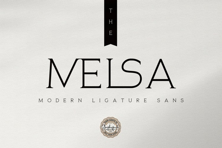 The Melsa - Modern Ligature Sans example image 1