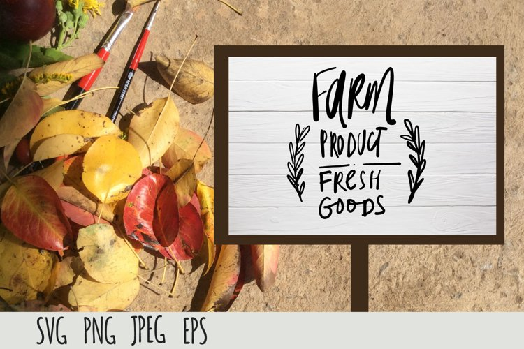 Farmers Market SVG cut file| Farm fresh product example image 1