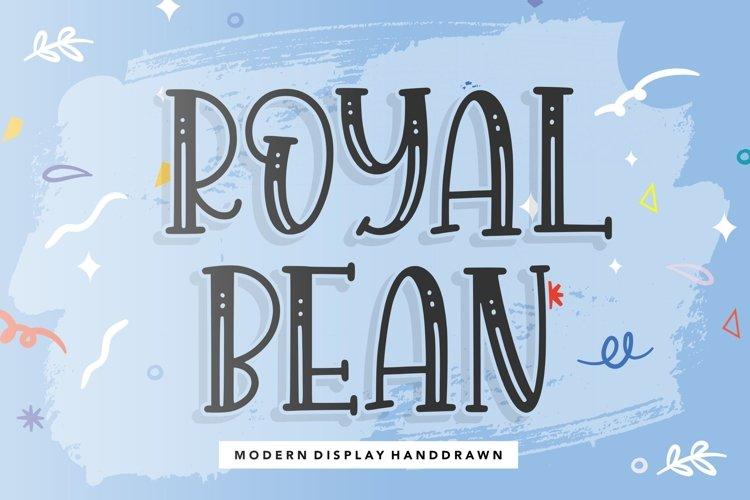 ROYALBEAN Modern Display Handdraw Font example image 1