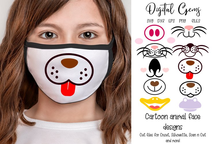 Mask designs, Animal faces SVG PNG EPS DXF files