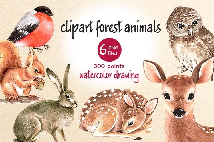 clipart forest animals example image 1