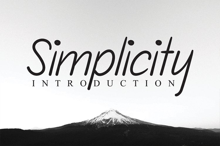 Simplicity example image 1